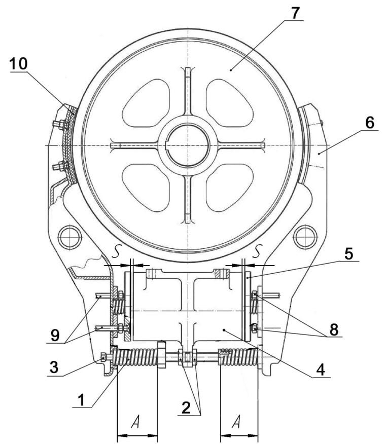 Конструкция тормозной системы лебедки лифта. Веллифт